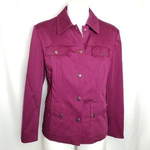 Jones New York magenta/plumb jacket